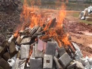ปัตตานีเผาทำลายยาเสพติดของกลางจำนวนมาก