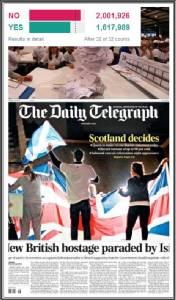 """In Pics : หลังชาวสกอตส่งเสียงโหวตโนกระหึ่ม 2,001,926 คะแนน """"ไม่แยกตัวจากอังกฤษ"""" เดวิด คาเมรอน เร่งปิดเกมเกรงจะเป็นควิเบก 2"""