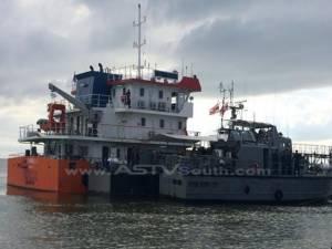ตำรวจน้ำนราฯ จับเรือขนน้ำมันปาล์มดิบอินโดฯ รุกน่านน้ำไทย