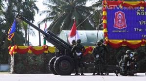 กองทัพภาคที่ 4 แสดงแสนยานุภาพสวนสนามวันกองทัพไทย