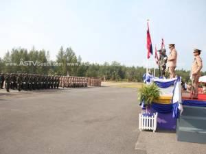 ทัพเรือภาค 3 จัดพิธีปฏิญาณตนต่อธงชัยเฉลิมพลในวันกองทัพไทย