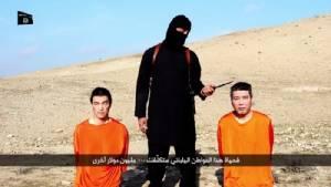 """นักรบญิฮาด IS แพร่คลิปขู่สังหาร """"สองตัวประกันญี่ปุ่น"""" หากรบ.ไม่จ่ายค่าไถ่"""