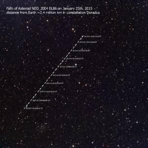 สดร.เผยภาพดาวเคราะห์น้อย 2004 BL86 ขณะใกล้โลก