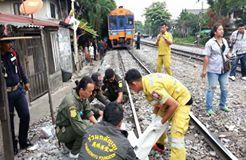 พนักงานทำความสะอาดรถไฟ พลาดท่าตกรถถูกทับเสียชีวิต