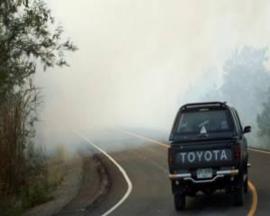 ไฟไหม้ข้างทางลามสวนยูคาลิปตัสเสียหาย 20 ไร่