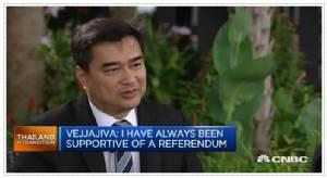 """ครบรอบ 1 ปีรัฐประหารไทย อภิสิทธิ์ลั่นผ่านสื่อสหรัฐฯ """"พลเอกประยุทธ์ใกล้หมดเวลา"""""""