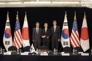 """ผู้แทน """"เกาหลีใต้-สหรัฐฯ –ญี่ปุ่น""""  ร่วมหารือฟื้นเจรจานิวเคลียร์กับโสมแดง"""