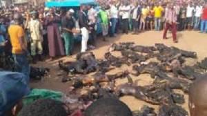 รถน้ำมันพุ่งชนสถานีโดยสารไนจีเรีย เพลิงผลาญวอดวายตายไป 37 ศพ