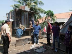 พายุฝนถล่ม 2 ตำบลเมืองบุรีรัมย์ บ้านเรือน ยุ้งข้าวพังกว่า 10 หลัง