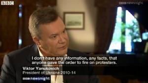 "In Pics & Clips: อดีตผู้นำยูเครน ""วิกเตอร์ ยานูโควิช"" ให้สัมภาษณ์บีบีซี เผยซึ้งใจ ""ปูติน"" ช่วยชีวิต-ยันไม่ได้สั่งฆ่าผู้ชุมนุม"