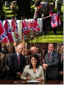 In Pics : ในที่สุดธงคอนเฟเดอเรตสนับสนุนทาสต้องถูกปลด หลังรัฐสภาเซาท์แคโรไลนาต้องใช้เวลากว่า 13 ชม.ลงมติ