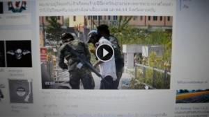 กระหน่ำแชร์! คลิป 2 ทหารไทยรุมจับชาวพม่าค้ายาคาตลาดริมเมย ก่อนโดดรั้วหนีข้ามฝั่ง (ชมคลิป)