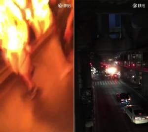 สื่อจีนเผยคลิปนักท่องเที่ยวถ่ายวินาทีระเบิดที่ศาลพระพรหม เอราวัณ จากสกายวอล์ก BTS [ชมคลิป]
