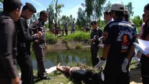 พบศพหนุ่มใหญ่นิรนามถูกทุบฆ่ารัดคอทิ้งคลองส่งน้ำ (ชมคลิป)