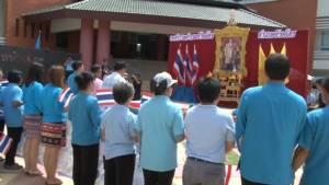 คนลำปางรับทีมนักปั่นรวมใจไทยอบอุ่น มอบเงินสมทบสร้างโรงเรียน 3 จชต.