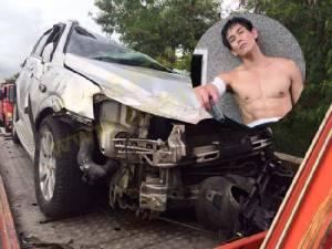 """สลด! รถ """"อาร์ เดอะสตาร์"""" เสยท้ายรถบรรทุกพังยับ ก่อนรถเทรลเลอร์เสียหลักชนซ้ำ ดับ 1 ราย"""