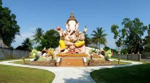 """วิจิตรตระการตา""""นราธิวาส""""...""""พระพิฆเนศองค์โต""""สวยที่สุดในเมืองไทย/ปิ่น บุตรี"""
