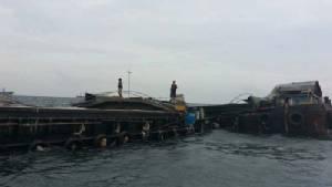 ทต.เกาะสีชัง เตรียมประสานทุกหน่วยงานแก้ปัญหาเรือปูนซีเมนต์จม