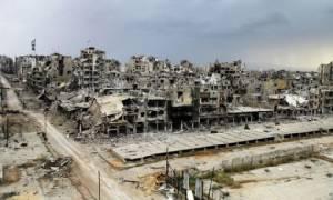 """ทัพซีเรียยิงมิสไซล์ถล่ม """"ที่มั่นสุดท้าย"""" ของกบฏในเมืองฮอมส์ คร่า 17 ศพ"""