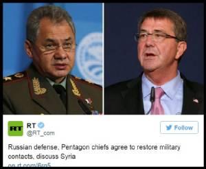 """เพนตากอนจ่อเปิดสายต่อตรงรัสเซีย """"ไม่พลาดลุยกันเอง"""" เหตุโจมตีในซีเรีย"""