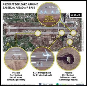"In Pics ภาพสดโจมตีจากกลาโหมปูติน :  รัสเซียแจงความสำเร็จ ""IS โดนเต็มๆถึง 8 จุด ใน 20 เที่ยวบินรบ"" หลังปูตินส่ง Sukhoi Su-24 บินจู่โจมเหนือน่านฟ้าซีเรียครั้งแรก"