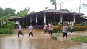ฝนหนักตลอดคืนทำกบินทร์บุรี-ศรีมหาโพธิระดับน้ำสูงขึ้นอีก