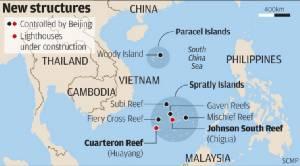 """จีนก่อสร้าง """"ประภาคาร"""" บนเกาะเทียมในทะเลจีนใต้เสร็จสมบูรณ์แล้ว"""