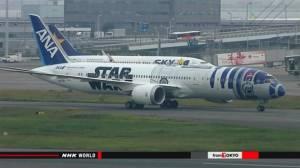"""สายการบินญี่ปุ่นแปลงโฉมเครื่องบินต้อนรับภาพยนตร์ดัง """"สตาร์วอร์ส"""""""