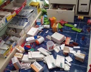 คนร้ายขึ้นร้านขายยา ขโมยเงิน และหอบเอายาติดมือไปด้วย เดือนนี้โดน 2 ครั้งแล้ว