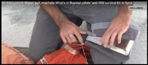 """In Pics : ฮือฮา! นักบินขับไล่รัสเซียพก """"มีดอีโต้"""" ไว้ฉุกเฉินในปฏิบัติการโจมตี IS ทางอากาศในซีเรีย"""