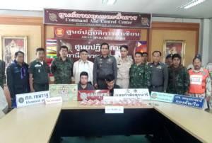 ทหาร-ตำรวจอุบลฯ สกัดจับ 2 หนุ่มขนยาบ้า มูลค่ากว่า 6 ล้าน