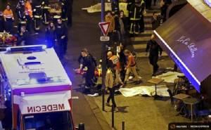 """ฝรั่งเศสสั่งยกระดับรักษาความปลอดภัยสถานทูตทั่วโลกหลังปารีสถูกก่อวินาศกรรม ตร.น้ำหอมพบ """"พาสปอร์ตซีเรีย"""" ใกล้ศพมือระเบิดฆ่าตัวตาย"""