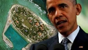 """""""โอบามา"""" เรียกร้องยุติการก่อสร้างบนหมู่เกาะพิพาทในทะเลจีนใต้"""