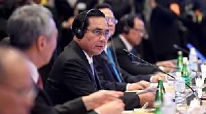 """""""ประยุทธ์"""" ประชุมวางทิศทางอาเซียน เน้นมีเอกภาพ พร้อมลงนามต่อต้านการค้ามนุษย์ ถกอินเดียร่วมเป็นหุ้นส่วน"""