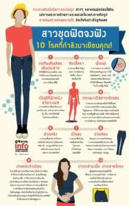 สาวชุดฟิตจงฟัง นี่คือ 10 โรคที่กำลังมาเยือนคุณ!
