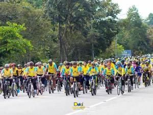 """นราฯ กำหนดเส้นทางสิริมงคลปั่นจักรยานเฉลิมพระเกียรติ """"ปั่นเพื่อพ่อ"""" ผ่านสถานที่สำคัญ 9 แห่ง"""