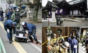 """ตำรวจญี่ปุ่นรวบ """"ชายเกาหลีใต้"""" พัวพันเหตุลอบวางระเบิด """"ศาลเจ้ายาสุกุนิ"""""""
