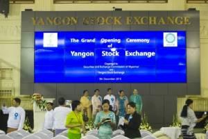 ตลาดหลักทรัพย์พม่าเปิดเป็นทางการแล้ว แต่ยังไม่เคาะระฆังซื้อ-ขาย