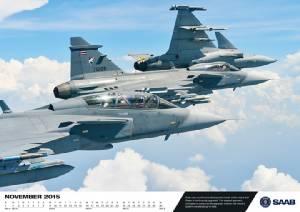 ปีทองของกริพเพน ดูกันใกล้ๆ JAS39 ทัพฟ้าไทยบนแผ่นปฏิทินสวีเดน