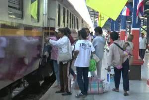 หยุดวันแรก ปชช.กลับฉลองปีใหม่คึกคัก ตั๋วรถไฟบุรีรัมย์ถูกจองเต็มล่วงหน้าถึง 4 ม.ค.