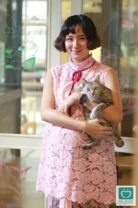 """บุกดินแดนทาสแมว """"Purr Cat Cafe"""" สไตล์(ว่าที่)คุณแม่สุดแนว """"เพชร-นาระ"""""""