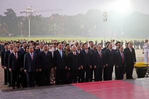 ผู้นำพรรคคอมมิวนิสต์เวียดนามรวมตัวเตรียมความพร้อมประชุมสมัชชาใหญ่