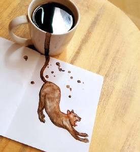 ศิลปินรัสเซียแต่งแต้มงานอาร์ตเติมเต็มรสชาติกาแฟแด่ชาวฮิปสเตอร์