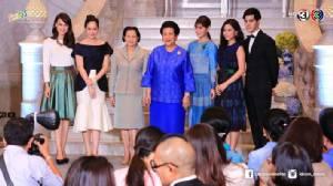 """""""เฟิร์ส-แจ๊คกี้"""" นำทีมนักแสดง ผู้จัดฯช่อง 3 เปิดโครงการ QSMT Celebration   พิพิธภัณฑ์ผ้า ในสมเด็จพระนางเจ้าสิริกิติ์ พระบรมราชินีนาถ"""