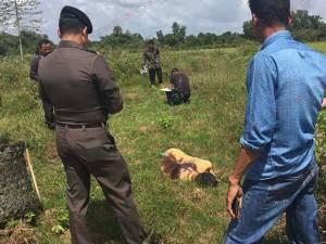 สังหารโหดชายชาวบางกล่ำดับกลางทุ่งหญ้า เบื้องต้นตำรวจคาดปมชู้สาว