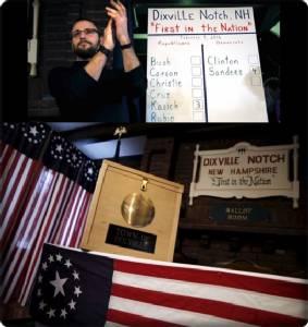 """เลือกตั้งไพรมารีโหวตรัฐนิวแฮมป์เชียร์เริ่มเปิดฉาก """"แซนเดอร์ส"""" ฝั่งเดโมแครต และ """"คาซิค"""" จากรีพับลิกัน คว้าชัยเลือกตั้ง """"เมืองดิกซ์วิล"""" ที่มีคนอาศัยแค่ 9 คน"""