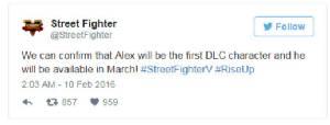 """Alex"" โผล่เป็น DLC แรกสตรีทไฟเตอร์5"