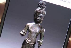 """ยังยืนยันไม่ได้! ของจริงหรือปลอม ฝรั่งเปิดประมูล """"รูปปั้นอวโลกิเตศวร"""" อายุพันปีจากบุรีรัมย์"""