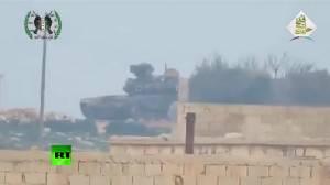 คลิปชัดๆ ของแท้แน่นอน คราวนี้สื่อหมีจัดเองจรวด TOW ซัด T-90 เดี้ยงแต่ไม่ระคายเคืองเกราะเหล็ก