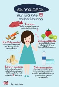 อยากผิวสวย สุขภาพดี นี่คือ 5 อาหารที่ห้ามขาด